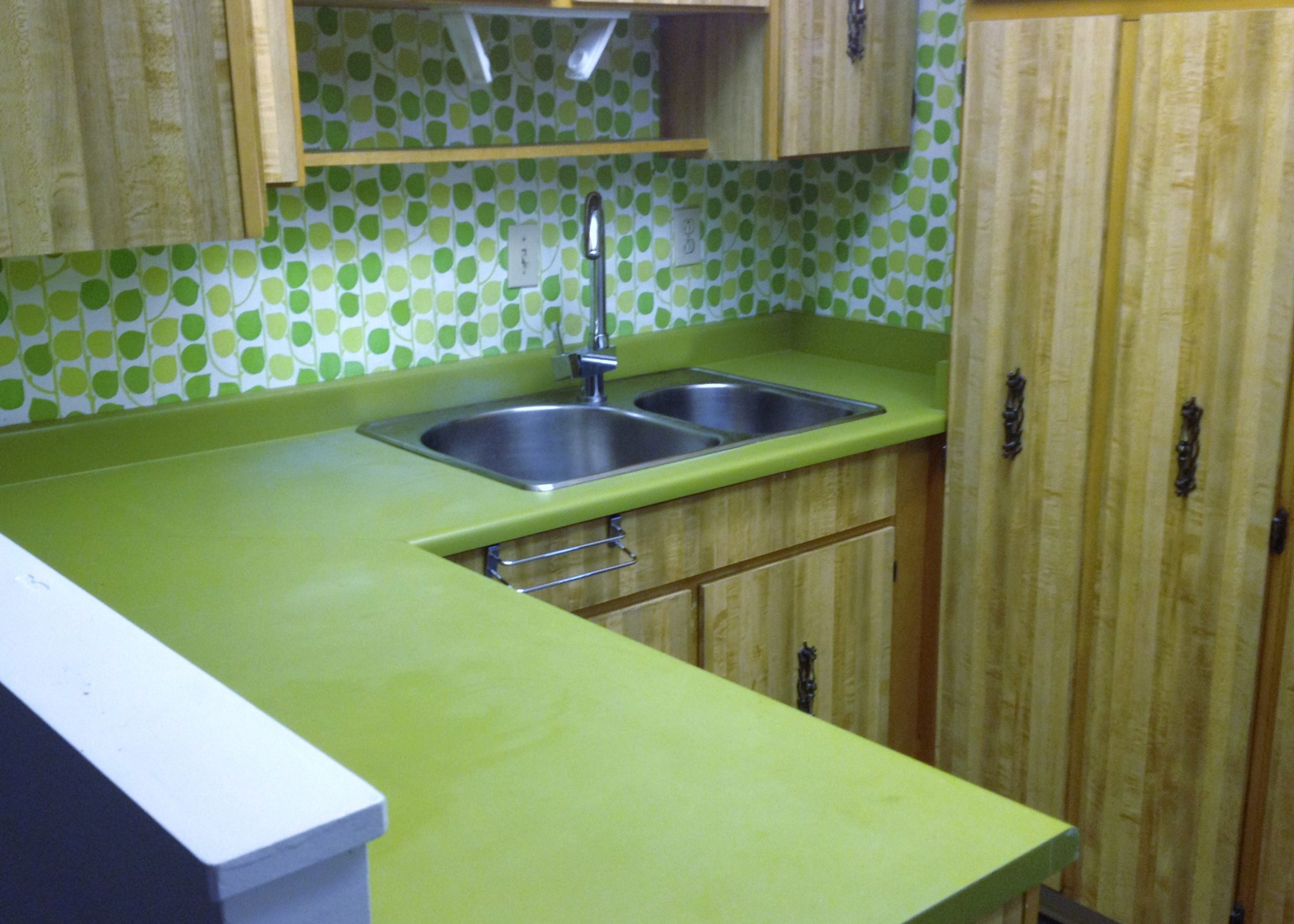 Before-Green Countertop